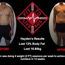 Haydens 12 week transformation