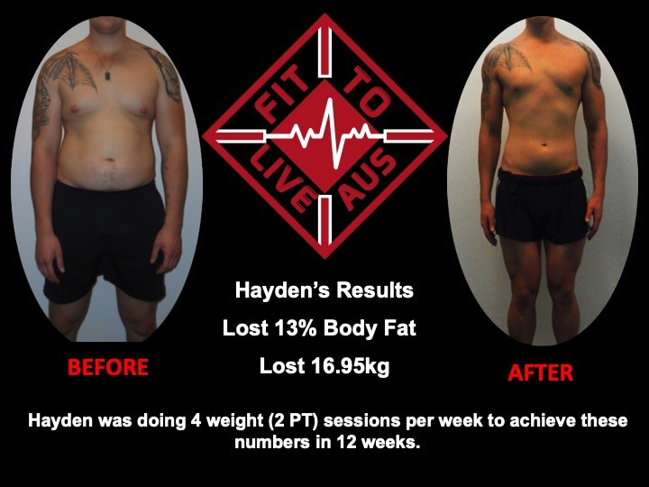 Haydens 12 week transformation